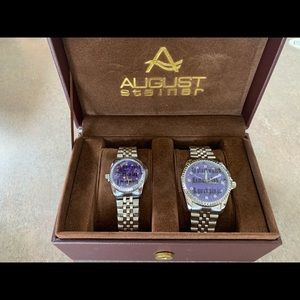 August Steiner his and hers watch gift set